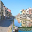 Glimpse of Naviglio, Milan — Stock Photo