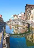 мост на навильо, милан — Стоковое фото