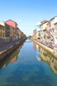 Glimpse of great Naviglio, Milan — Stock Photo