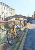 велосипед на навильо, милан — Стоковое фото