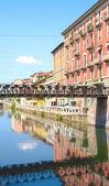 Bridge on the Naviglio, Milan — Stock Photo