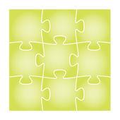 Green puzzle board — Stock Vector