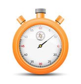 The vibrant orange stopwatch — Stock Vector