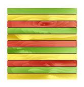 Jamaica style wood slab — Stock Vector