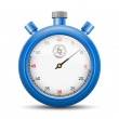The blue stopwatch — Stock Vector