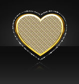 The heart with diamonds — Stock Vector