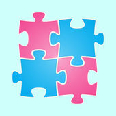 The jigsaw composition — Stock Vector