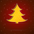 Christmas card with yellow tree — Vettoriali Stock