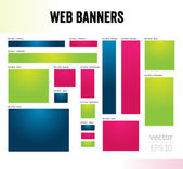 The set of web banners templates — Stock Vector