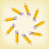 The pencil composition — Stock Vector