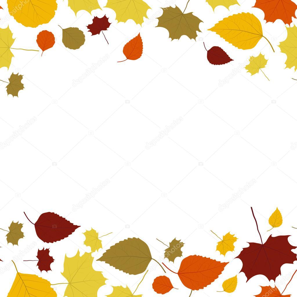 抽象的秋天边框