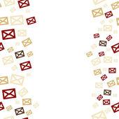 Envelopes background — Stock Vector