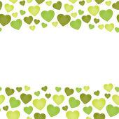 The love seamless border — Stock Vector