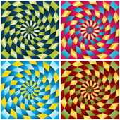 The set of rotating backgrounds — Stock Vector