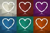 バレンタインのグリーティング カードの概念 — ストックベクタ
