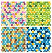 The simple seamless hexagon background set — 图库矢量图片