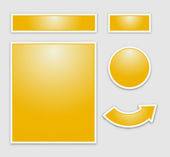 The web buttons set — Stock Vector