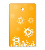 The flower theme label — Stock Vector