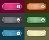 The access oval button set — Stock Vector