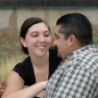 Young hispanic couple in love — Stock Photo