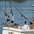 Stock Photo: Charter fishing boat with fishing poles