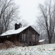 Frosty MIchigan barn — Stock Photo