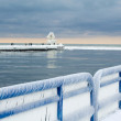 Icy landscape on Lake Michgian — Stock Photo #30767263