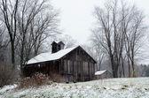 Frosty MIchigan barn — Stock Photo
