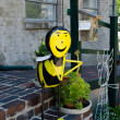 Stock Photo: Large metal bee
