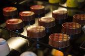 Decorated gourmet chocolates — Stock Photo