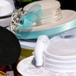 Old  fancy hats — Stock Photo