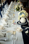 Fancy wedding table — Stock Photo