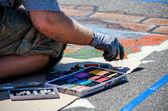 Pastel street art — ストック写真