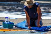 Making art on the street — Stock Photo