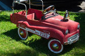 Antique fire engine riding toy — Stockfoto