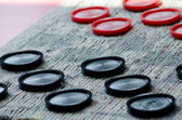 Playing checkers — Stockfoto