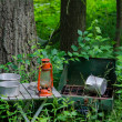 Abandoned camping gear — Stock Photo