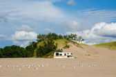 Camping at the dunes — Stock Photo