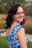 Smiling teen girl — Stock Photo