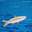 Mosaic tile fish — Stock Photo #38229065