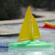 Toy boats in a pool — Stock Photo #38229181