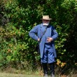 Robert e lee on the side lines — Stock Photo