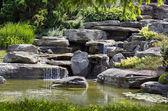 美丽的瀑布景观 — 图库照片