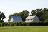 Old farm houses in indiana — Stock Photo