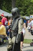 Sci fi storm trooper at festival — Stock Photo