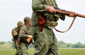 Soldiers on partol — Stock Photo