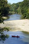 Boating on sugar creek — Stock Photo