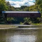 Covered bridge over sugar creek — Stock Photo #38237439