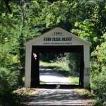 Rush creek Covered bridge in southern indiana — Stock Photo #38237701
