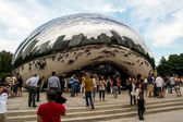 People at the cloud gate — Stock Photo